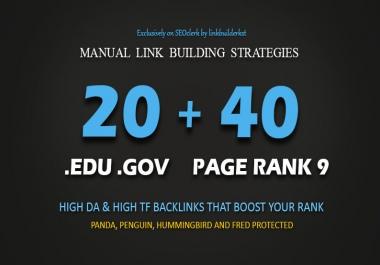 40 PR9 + 20 EDU GOV High Authority Backlinks - Blast Your Google Ranking