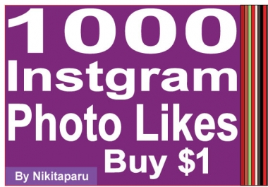 Instantly Add 1000 Instagram Photo Likes for $1
