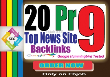 manually 20 PR9 high authority backlinks on news sites like Ted, Guardian, slideshare etc