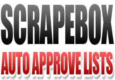 Give You 4 Million Mostly Are Auto Approve List For ScrapeBox