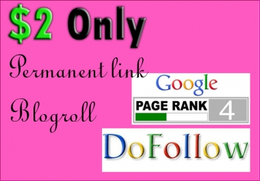 I will give You Pr4 Permanent backlink