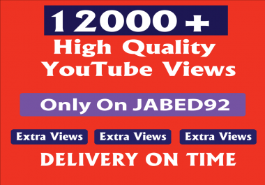 Safe & high retention 11000+ youtube views Within 24-48 hours