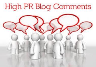 build 3000+ high pr blog comments backlinks,unlimited urls and keywords allowed, link report include