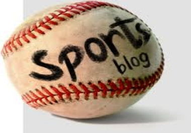 write and guest post on sports  blog.