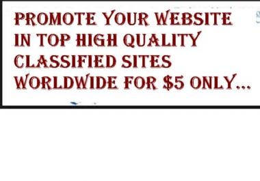 I will blast your website to top classified ads in Canada, US and UK