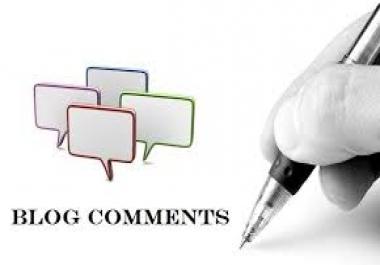 create 100 verified high pr blog comments..