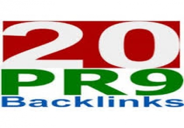 I will build 20 PR9 seo optimized backlinks, Panda Penguin safe