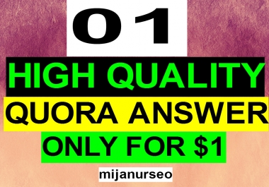 Guarantee 01 High Quality Quora Answer With Contextual Link