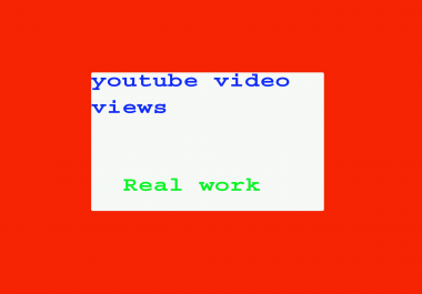 Give you instantly 10000 to 11000+ youtube video views & 50 likes in your youtube video
