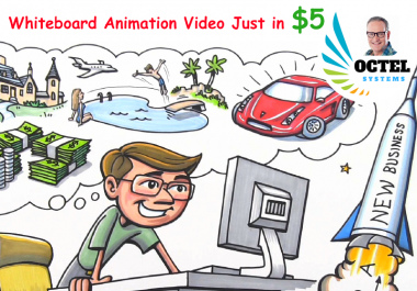 create a professional whiteboard or 2D animation video