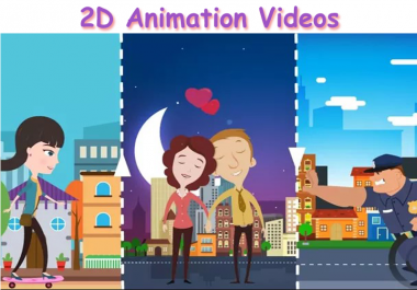 create a professional 2D animation video