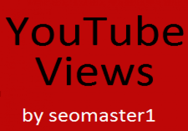 Provide you 100000 High Retention youtube views