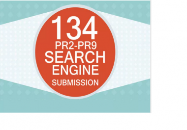 submit your website to 134 High PR Search Engines