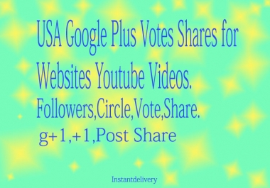 110+ REAL & Permanent USA Google Plus for Websites Youtube Videos 1LY
