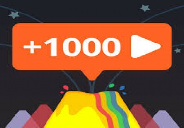 1050 views YouTub or 1050 Fast Profile  Followers. Any Social network