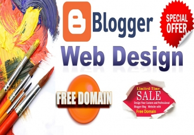 Convert Blogger Blogspot with Best Design Website with Free Domain .COM