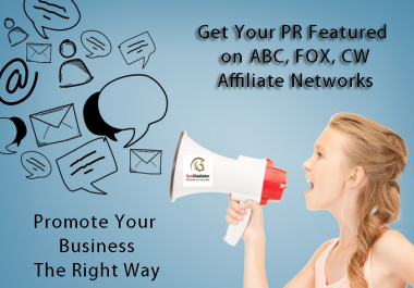 Write and Submit Your PR to ABC, FOW, CW affiliate network overall 300 Resources
