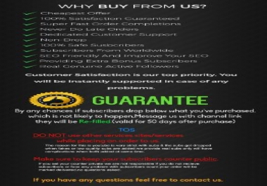 Instantly Start & Lifetime Guaranteed Non Dropped 500+ YouTube Subscribers or 1000+ Likes, Only