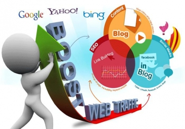 Send 40000+ Human Traffic by Google Twitter Bing Youtube etc