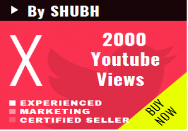 Start fastly 1000 Youtube Views for $1