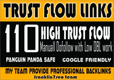 I will do SKY ROCKET YOUR Ranking with my 110 Hihg Trust Flow Backlinks