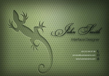 I will design a professional and modern business card