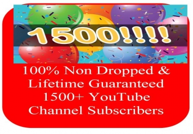 Instantly Start & Lifetime Guarantee Non Dropped 500+ YouTube Channel Subscribers or 2000+ Likes or 20,000+ Views
