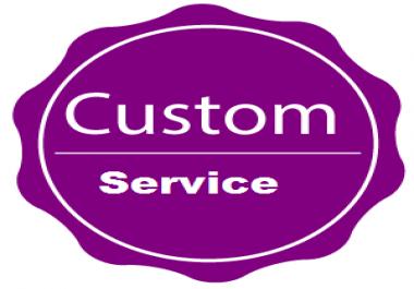 Custom order for my client toptallman2