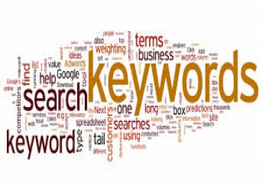 research and find best keywords in any niche..