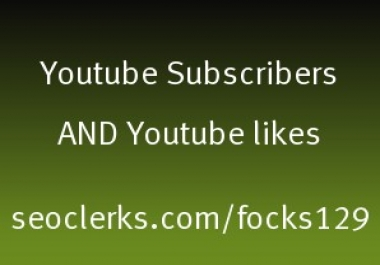 450 Real youtube likes or 150 youtube subscribers fast