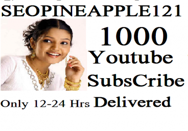 1,000 Or 1000+ High Quality Subscribers Fully Safe Instant Start Lifetime Guaranteed