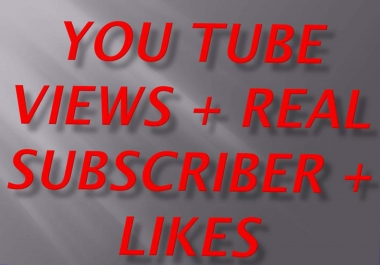 Bumper offer 15 k +++ YouTube views non drop+500 YT likes+ 20  you tube subscriber fist delivery for
