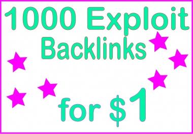 Give you 1000 HQ PR Exploit backlinks
