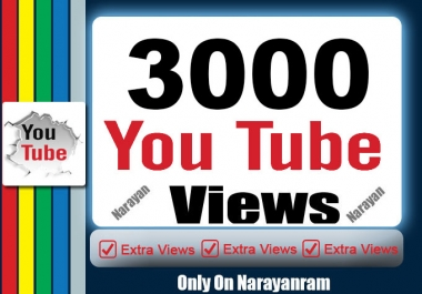 Get 3000 High QualityYouTube Views
