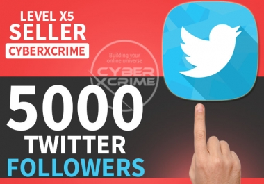 provide you 5000+ High Quality Twitter Followers within 24hrs