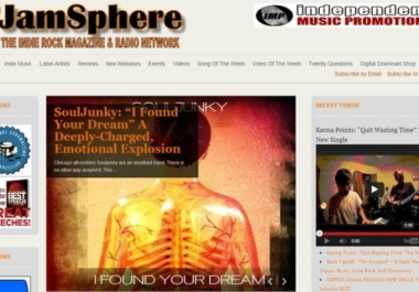 publish your Music Profile w/Bio, Pics + Links to JAMSPHERE + Tweet to 200k Fans