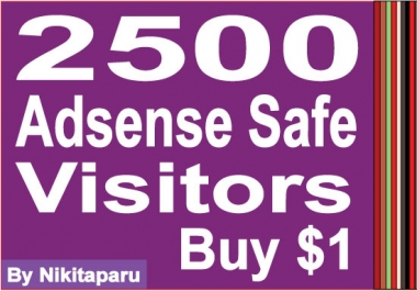 send 2500 Adsense Safe Visitors to your website/blog for $1