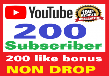 Add 200+ Real Youtube Subscribers and 200+ Likes YT Safe and Non Drop, Instant Start, top Youtube Views
