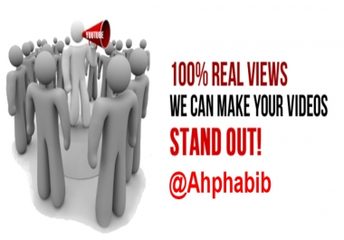 1000 Supar Fast YouTube Views on your Video for $1