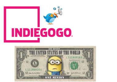 promote Indiegogo crowdfunding campaign to 100K Twitter FoIIowers