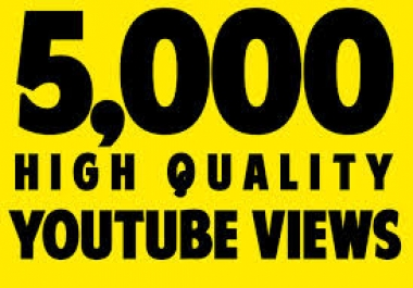 i provide you 5000 HR Youtube views OR 1000 VIDEO LIKES