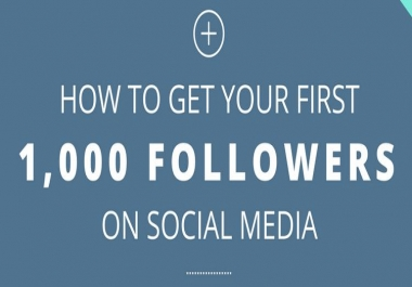 100% Effective 1000+ Likes or Followers For Social Media Promotion Only