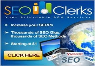 provide you  1600  views or visitors to your seoclerk... for $1