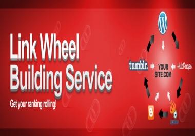 I will create 15 Super Powerful Linkwheel in high pr web 2.0 properties