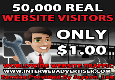 50K Web Traffic To Your Website, Blog or Affiliate Link