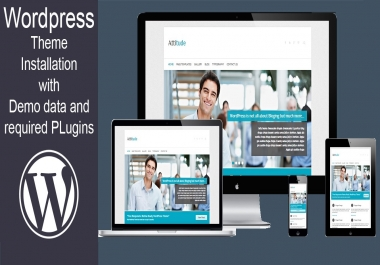 Install WordPress theme with demo data and required Plugins