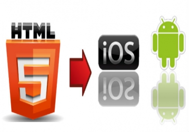 Convert HTML5 To android &iOS apps