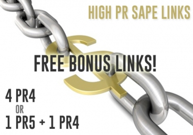 give you PR5 and PR4 High pr SAPE Links That Boost Your Serp