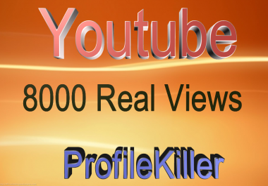 8000+ Real People views and 100 Real likes for Youtube video