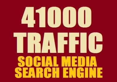 Real 41,000++ Web Traffic WORLDWIDE from Search Engine and Social Media